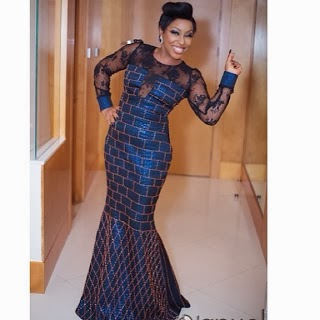 CELEB STYLE: RITA DOMINIC  DAZZLES IN BLUE AT THE NIGERIAN MOVIE AWARDS(NMA 2013)