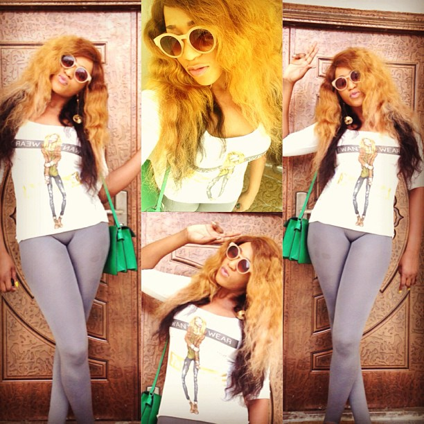 IS THERE ANYTHING WRONG?: RUKKY SANDA CATCHES ATTENTION IN SKIN TIGHT LEGGINGS