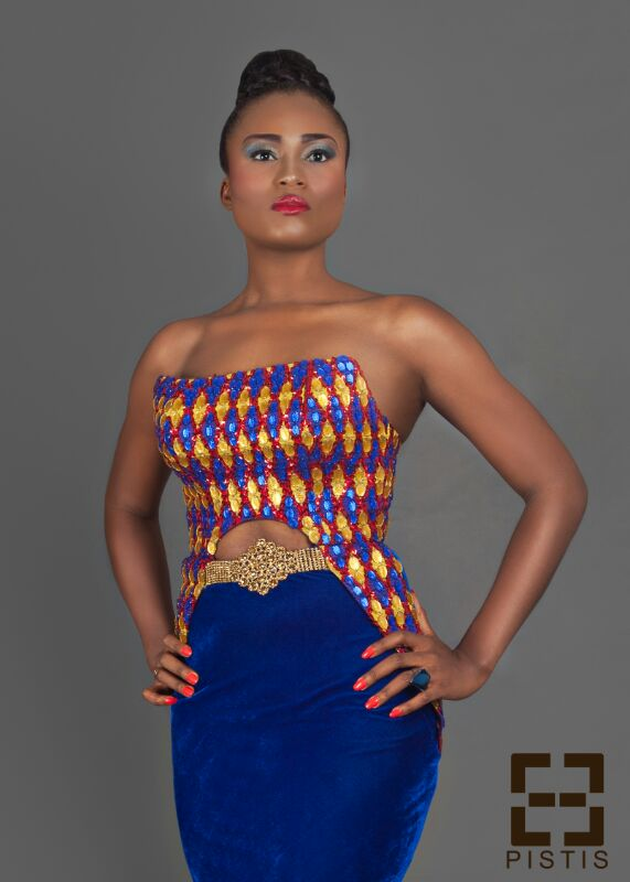 More like a mannequin christabel ekeh is regal in this pistis dress